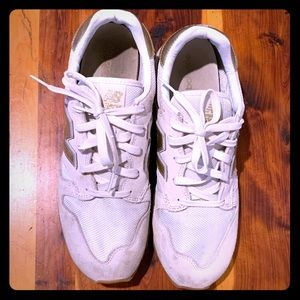 New Balance / JCrew White and gold sneakers
